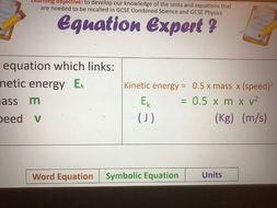 GCSE Physics SI Units and Equations