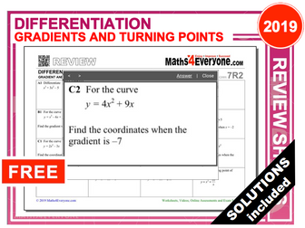 GCSE Revision (Differentiation - Gradients and Turning Points)