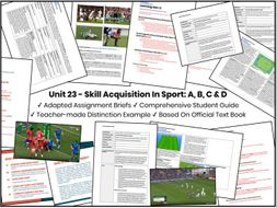 BTEC Level 3 In Sport - Unit 23 Complete Package