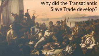 Card Sort: Why did the Transatlantic Slave Trade develop and grow?