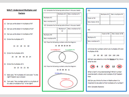 a worksheet on factors and multiples  by resourcesbyemma  a worksheet on factors and multiples
