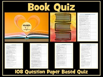 Book Quiz- Paper-Based