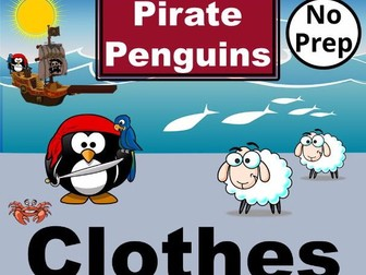 ESL Pirate Penguins. Interactive PowerPoint Games to learn CLOTHES Vocabulary in English