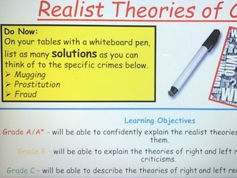 Year 13 Left and Right Realist Theory on Crime and Deviance