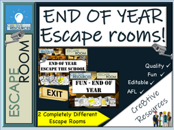 End of Year Escape Rooms