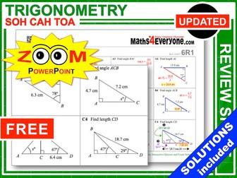 GCSE Revision (Trigonometry: SOH CAH TOA)