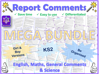 Report Comments Mega Bundle