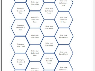 Hexagon sorting and matching game maker