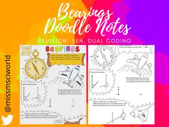 Bearings Maths Doodle Note