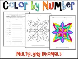 Multiplying Binomials Color by Number by charlotte_james615 ...