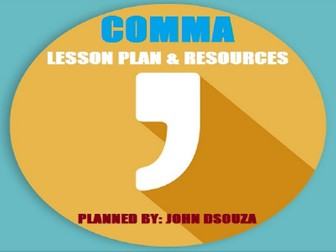 COMMAS: LESSON PLAN & RESOURCES