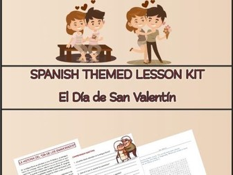 Spanish San Valentin Lesson Kit