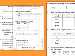Start of Year 2 Grammar and Punctuation Baseline Assessment