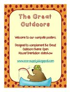 """Back to School """"Welcome to our Campsite"""" Posters (suitable for UK and US)"""