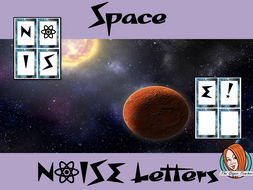 Outer Space Themed Noise letters