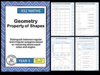 Year 5 - Distinguish regular and irregular polygons - Geometry - White Rose  (INC. MASTERY)