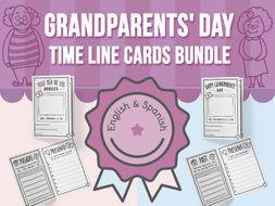 Grandparents' Day - Time Line Cards BUNDLE