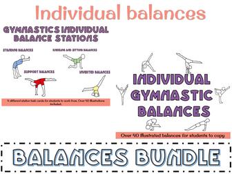 Gymnastics balances - individual balances bundle