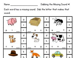 Sound Dabbers: Dab the Missing Sound Activity