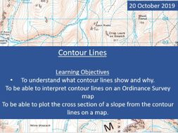 KS3 year 7 Lesson on Contour Lines