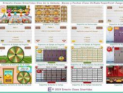 Weekdays, Months & Dates Kooky Class Spanish PowerPoint Game