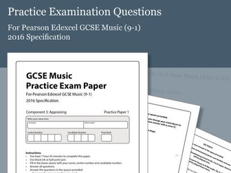 Practice Exam Paper 1 for Pearson Edexcel GCSE Music (2016 Specification)
