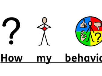 Symbol supported good and bad behaviour social story