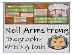 UKS2 History - Neil Armstrong Biography Writing Unit