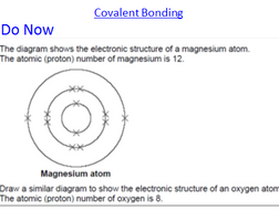 Chemical Bonding, Ionic, Covalent and Metallic