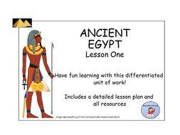 AncientEgypt:LessonOne-LessonPlanandResources