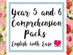Year 5 and 6 Comprehension Pack