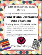 """Differentiated Task Cards """"Fractions of a Whole"""""""