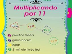 Multiplicando Por 11 - Spanish Multiplication Math Games and Lesson Plans