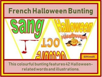 French 42 Flags - Halloween Bunting