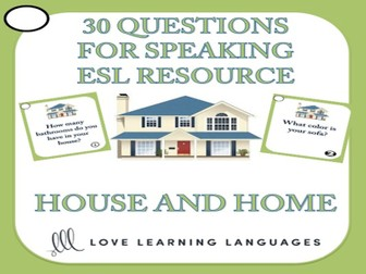 ESL - ELL Bundled Speaking Activities and Games - House and