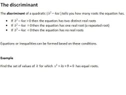 Notes and Examples for Edexcel A Level Mathematics Year 1 Topic 2 ...