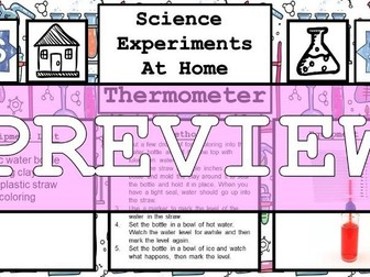 Science Home Experiment - DIY Thermometer