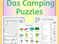 German Camping Vocab Puzzles
