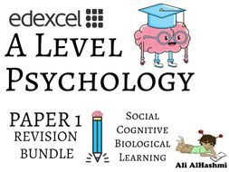 Edexcel A Level Psychology Paper 1 Bundle