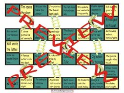 Passive versus Active Voice Chutes and Ladders Board Game
