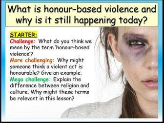 Honour Violence PSHE RSE 2020