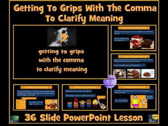 Commas: Commas To Clarify Meaning and Avoid Ambiguity and Confusion -  PowerPoint Lesson