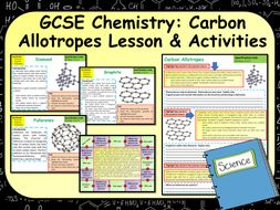 AQA GCSE Chemistry (Science) Carbon Allotropes  Lesson & Activities