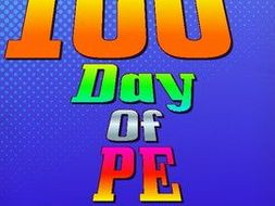 100th Day of PE Activity Cards