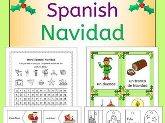 Spanish Christmas - Navidad - fun activities, worksheets, wordwall, bingo, cards and more