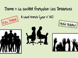 Les Aspects de la société francaise: Les Tendances- FULL THEME- A Level French