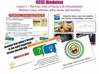 GCSE Hinduism - Lesson 7/20 [Aims of Hindu Life: Purusharthas, Dharma, Varna, Ashrama, Artha, Karma]