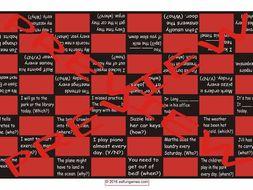 Future Simple Tense with Will Checker Board Game