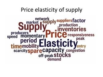 A Level Business/Economics Price Elasticity of Supply Lesson (PeS)