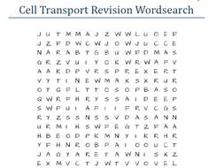 Differentiated Cell Transport Revision Wordsearch